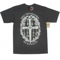 Obey 'Dagger Crest' T-Shirt -Charcoal-