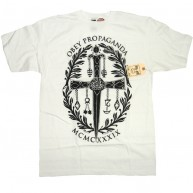 Obey 'Dagger Crest' T-Shirt -White-