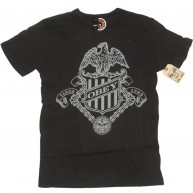 Obey 'Eagle Badge' Antique Tee -Graphite-