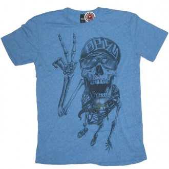 Obey 'Life In The fast Lane' TriBlend Tee -Blue-
