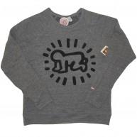 Obey 'Keith Haring Baby' Sweatshirt -Heather Grey-