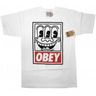 Obey 'Haring Eyes' T-Shirt -White-
