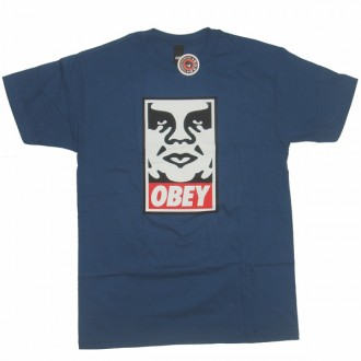 Obey 'Icon' T-Shirt -P Blue-
