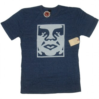 Obey 'Icon Face' TriBlend Tee -Navy-