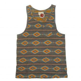 Obey 'Indian Summer' Vest Tank T -Charcoal-
