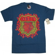 Obey 'Low Life Monogram' T-Shirt -P Blue-