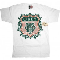 Obey 'Low Life Monogram' T-Shirt -White-