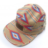 Obey 'Native' 5 Panel Cap -Khaki-