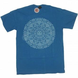 Obey 'Ornate' T-Shirt -H Dk Blue-