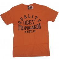 Obey 'Quality Propa' Antique Tee -Orange-