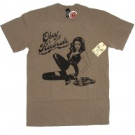 Obey 'Record Girl' T-Shirt -H Putty-