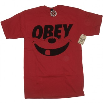 Obey 'Smile' T-Shirt -Red-