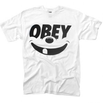 Obey 'Smile' T-Shirt -White-