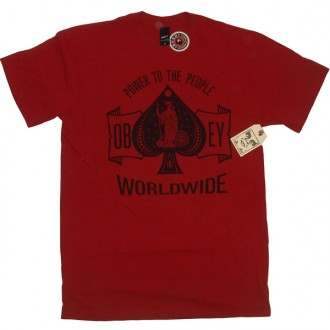 Obey 'Ace Of Spades' T-Shirt -H Red-
