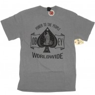Obey 'Ace Of Spades' T-Shirt -Grey-