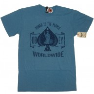 Obey 'Ace Of Spades' T-Shirt -H Blue-
