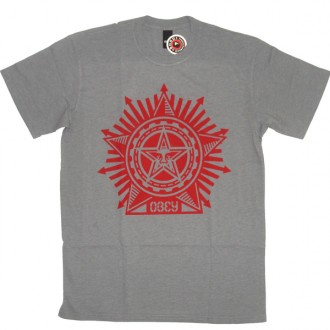 Obey 'Superstar' T-Shirt -Grey-