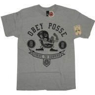 Obey 'Strive To Survive' T-Shirt -Grey-