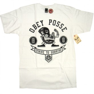 Obey 'Strive To Survive' T-Shirt -White-