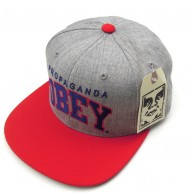Obey 'Throwback' Cap -Grey/Red-