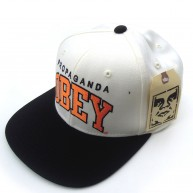 Obey 'Throwback' Snapback Cap -Natural-