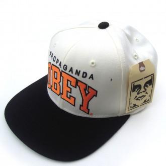 Obey 'Throwback' Snapback Cap -Natural-