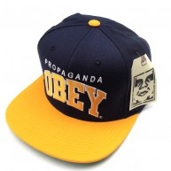 Obey 'Throwback' Cap -Navy/Gold-
