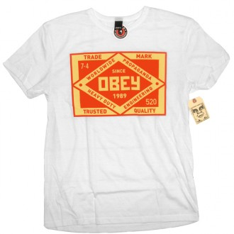 Obey 'Trademark' TriBlend Tee -White-