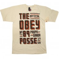 Obey 'Trucker's Delight' T-Shirt -Natural-