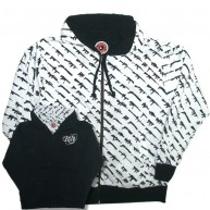 Rogue Status 'Gun Show' Reversible Zip Hoodie  -Black/W-
