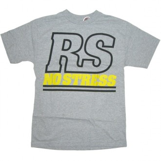 Rogue Status 'No Stress' T Shirt  -Grey-