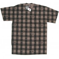 Stussy 'Buffalo Plaid' Tee  -Brown-