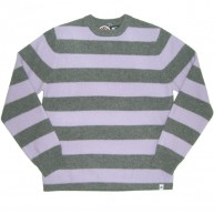 Stussy 'Stripe knit' Sweater  -Grey/Lilac-