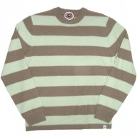 Stussy 'Stripe knit' Sweater  -mint/Grn-