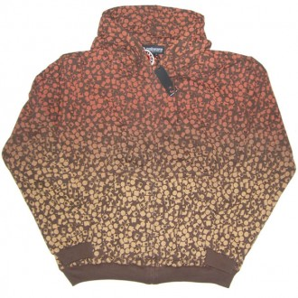 Subware  'Fat Cap Fade' Hoodie -Brown/Orange-
